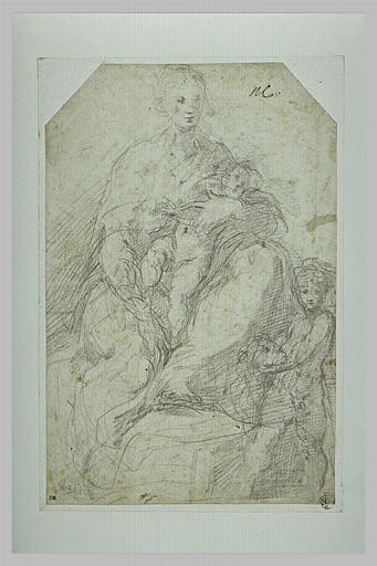 Vierge à l'Enfant avec saint Jean tenant la tête de l Agneau