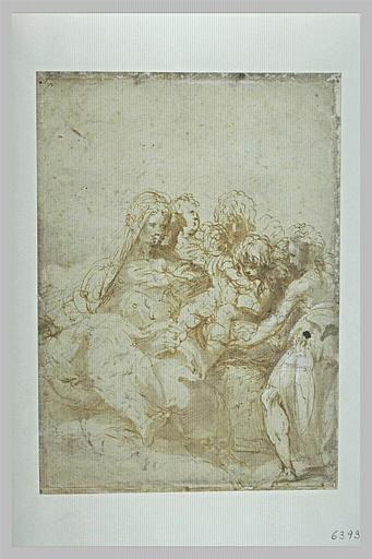 La Vierge à l'Enfant avec saint Jean enfant, et sept anges