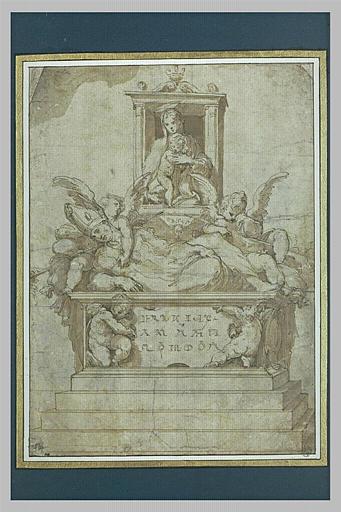 Projet pour le tombeau d'un évêque