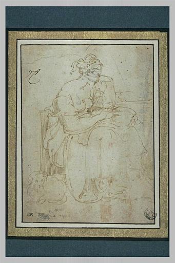 Femme assise, tournée vers la droite