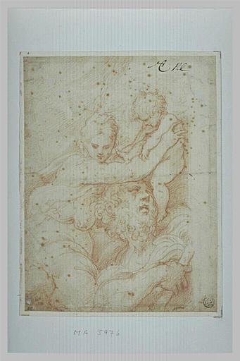 La Vierge plaçant l'Enfant Jésus sur les épaules de saint Christophe (?)