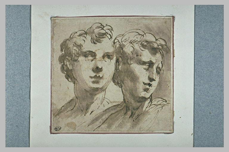 Deux têtes de jeunes hommes