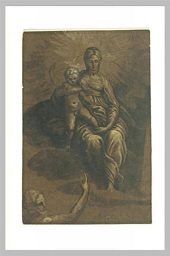 Vierge à l'Enfant sur les nuages, avec saint Jean-Baptiste