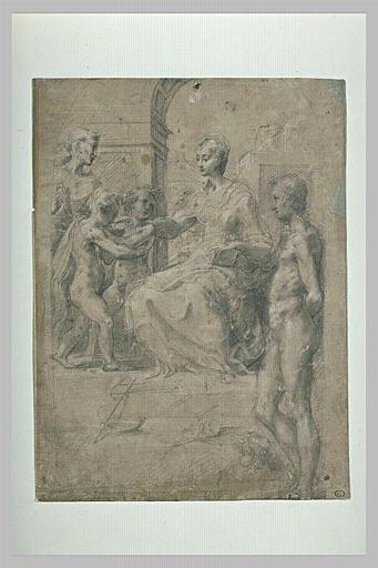 Vierge à l'Enfant avec saint Jean, saint François et saint Sébastien