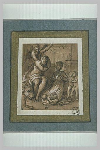 L'Enfant Jésus adoré par les anges et par la Sainte Famille