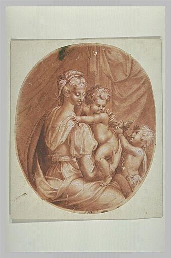 La Vierge à l'Enfant et saint Jean lui donnant un oiseau
