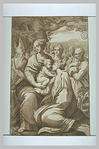 Vierge et l'Enfant avec sainte Marguerite, saint Jérôme, un évêque