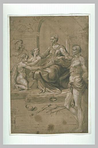 La Vierge à l'Enfant avec saint Jean, saint François et saint Sébastien