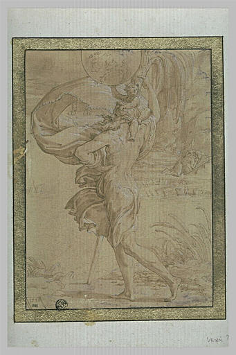 Saint Christophe aidant l'Enfant porteur du monde, à traverser