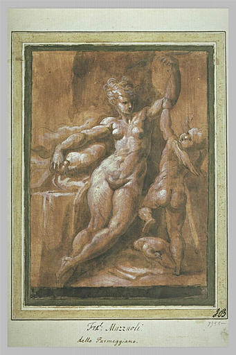 L'Amour cherchant à reprendre son arc des mains de Vénus