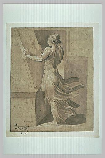 Une femme peignant (Allégorie de la peinture)