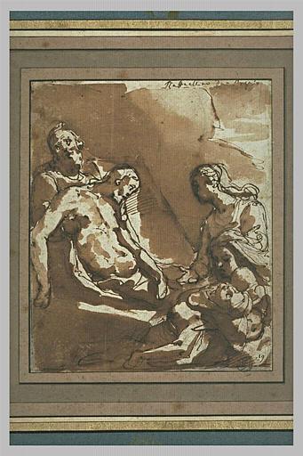 Le Christ mort, soutenu par l'un de ses disciples et la Vierge évanouie