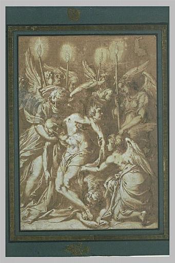 Christ mort soutenu par des anges