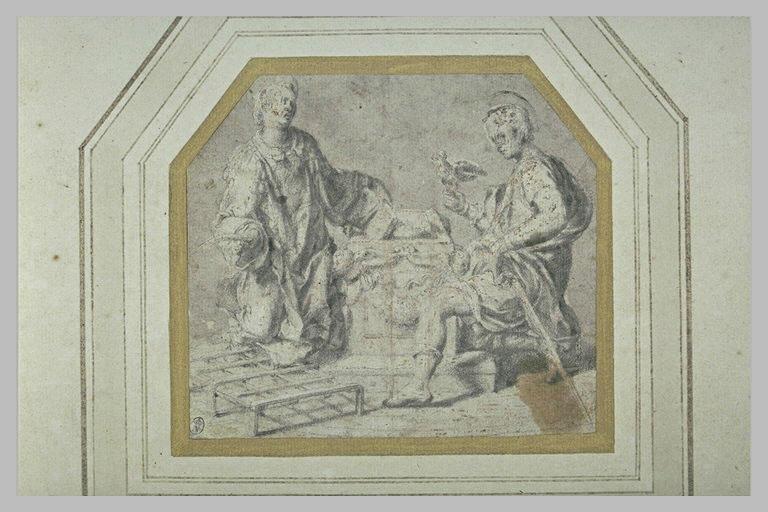 Saint Laurent et saint Hubert