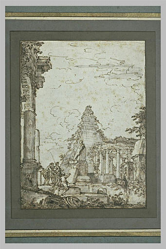 Ruines avec la pyramide de Cestius