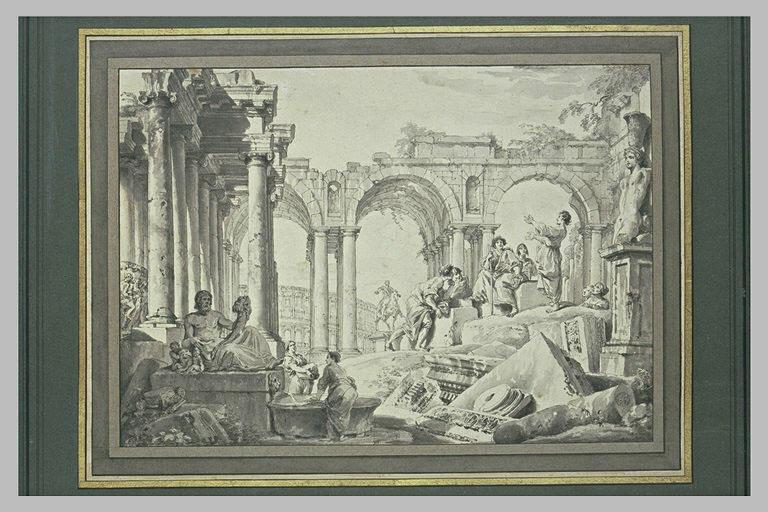 Prédication d'un apôtre au milieu de ruines
