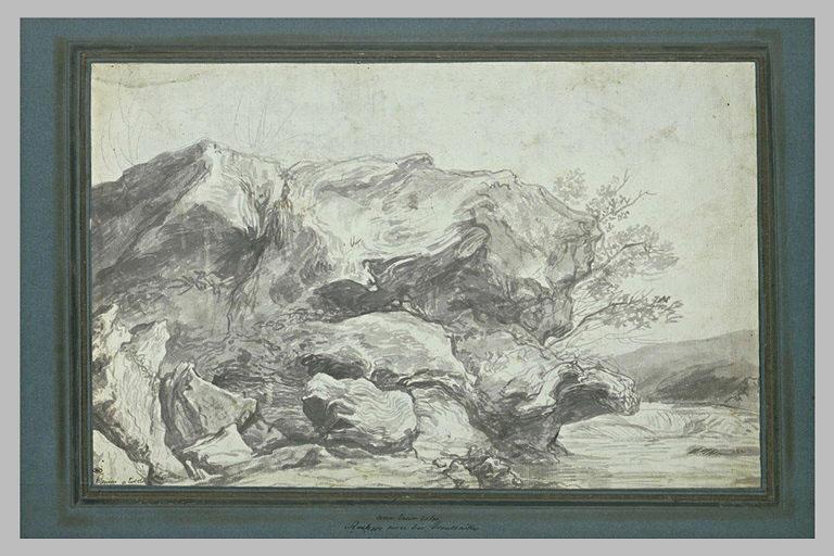 Paysage de rochers au bords d'un cours d'eau