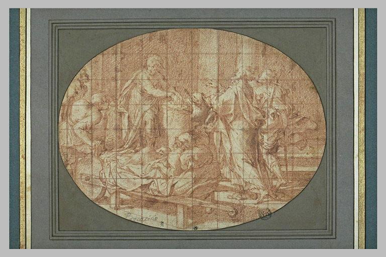 Saint Jean et saint Pierre guérissant les malades à la porte du Temple_0