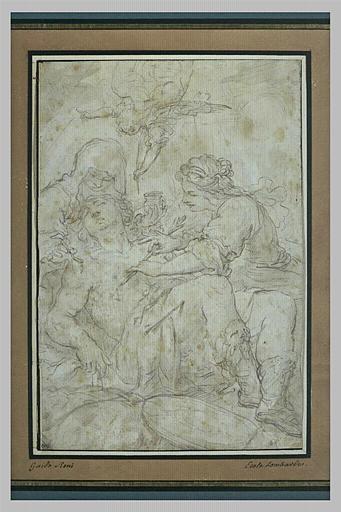 Irène, aidée par sa servante extrait les flèches du corps de saint Sébastien
