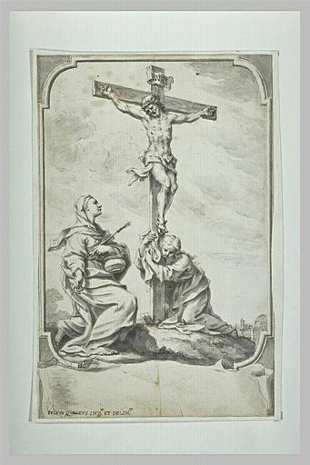 Sainte Madeleine au pied de la Croix et une autre sainte