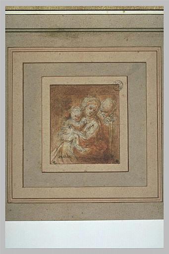 Vierge à l'Enfant avec une figure derrière elle