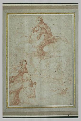 La Vierge à l'Enfant adorés par une donatrice, présentée par Marie Madeleine
