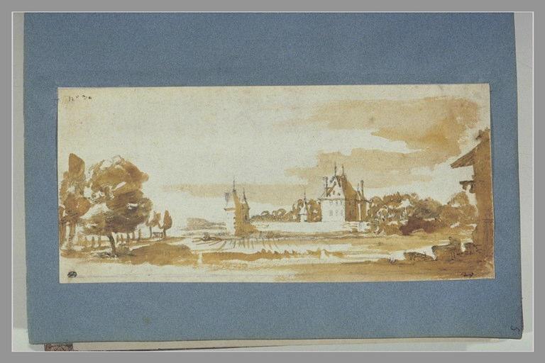 CALLOT Jacques : Vue d'un château dans la campagne