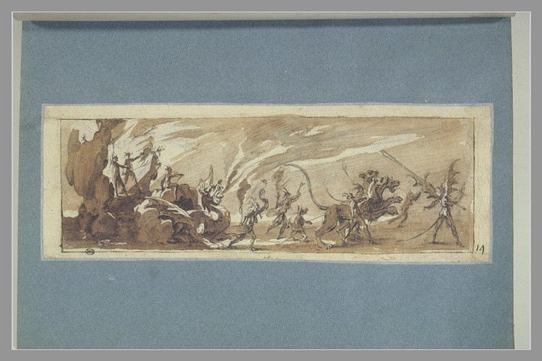 CALLOT Jacques : Le char de MM. de Coulonge et de Chalabre, carnaval de 1627