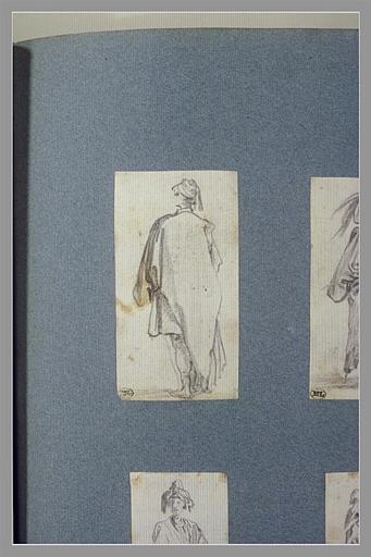 CALLOT Jacques : Un bohémien, coiffé d'un bonnet, vu de dos