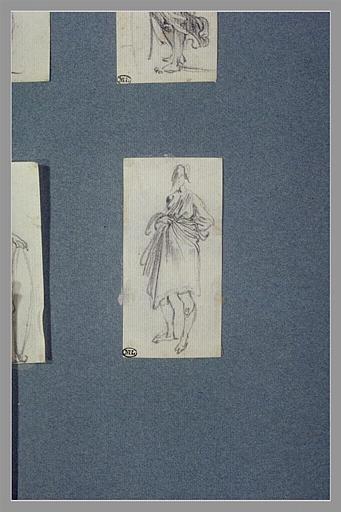 CALLOT Jacques : Une femme, debout, tournée à gauche