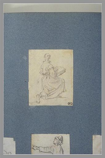 Une figure à genoux, tenant un livre_0