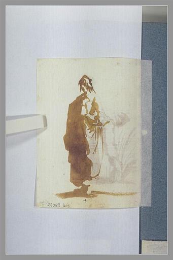 CALLOT Jacques : Une paysanne, debout, vue de trois quarts