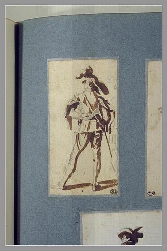 CALLOT Jacques : Un soldat ,debout, vu de dos