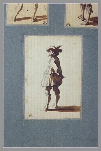 CALLOT Jacques : Un homme, debout, les mains derrière le dos