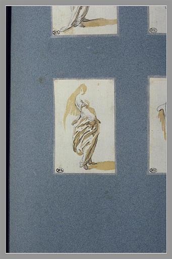 CALLOT Jacques : Une femme, debout, tournée vers la droite