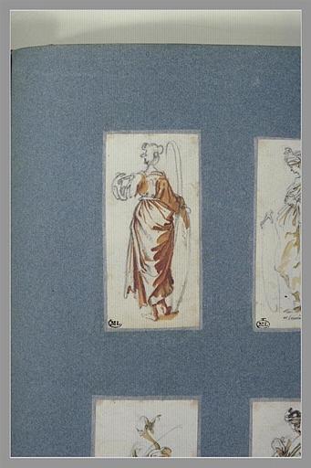 CALLOT Jacques : Une femme, debout, vue de dos