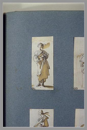 CALLOT Jacques : Une femme, debout, vue de face