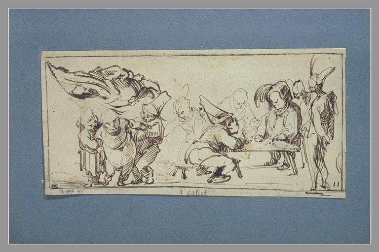 Groupe de figures grotesques et de caramiggi