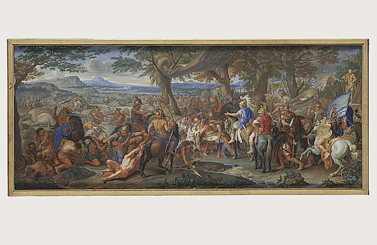 CHASTEAU Antoinette, LE BRUN Charles (inspiré par) : La défaite de Porus d'après Le Brun