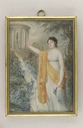 AUGUSTIN Jean-Baptiste Jacques : Portrait de Mademoiselle Fanny Charrin