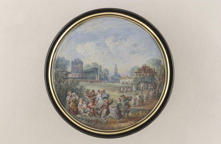 BLARENBERGHE Louis Nicolas van : Danse sur la pelouse d'un château
