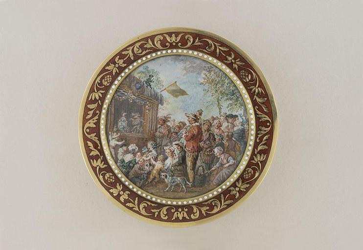 BLARENBERGHE Louis Nicolas van : Théâtre de Guignol (tabatière)