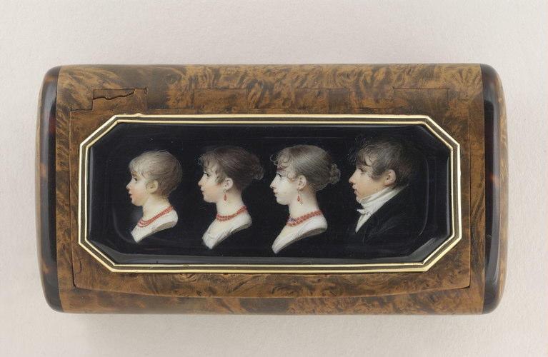 BOURGEOIS Charles Guillaume Alexandre : Portrait d'Auguste, Aimée, Adèle, et Elisa Artand