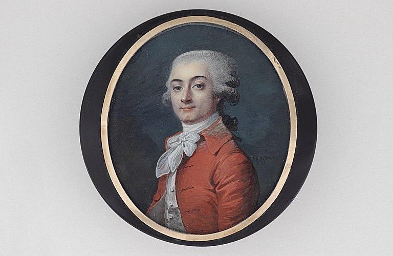 MOSNIER Jean Laurent : Portrait du vicomte de Belsunce (1765-1789)