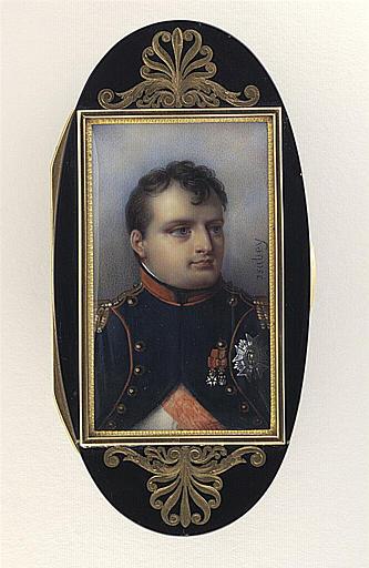 ISABEY Jean-Baptiste : Portrait de Napoléon Ier en petite tenue d'officier des grenadiers à pied