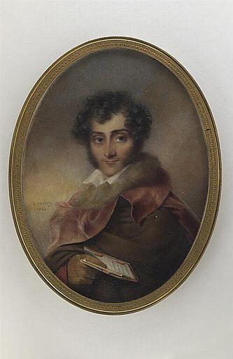 Le vicomte d'Arlincourt, tenant un carnet_0