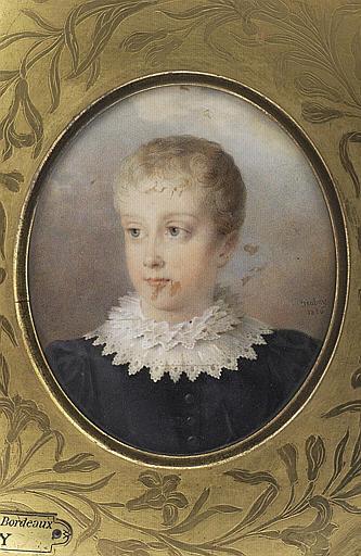 ISABEY Jean-Baptiste : Le duc de Bordeaux, enfant