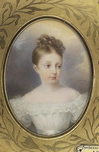 La duchesse de Parme, enfant