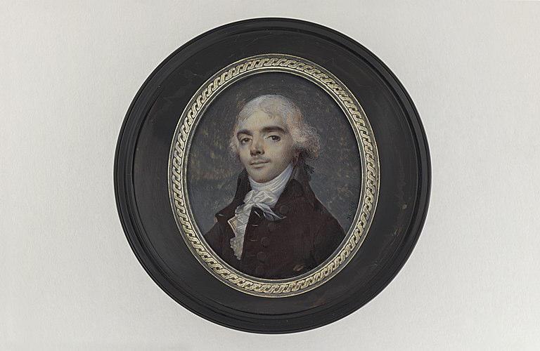 ISABEY Jean-Baptiste : Portrait d'inconnu, buste