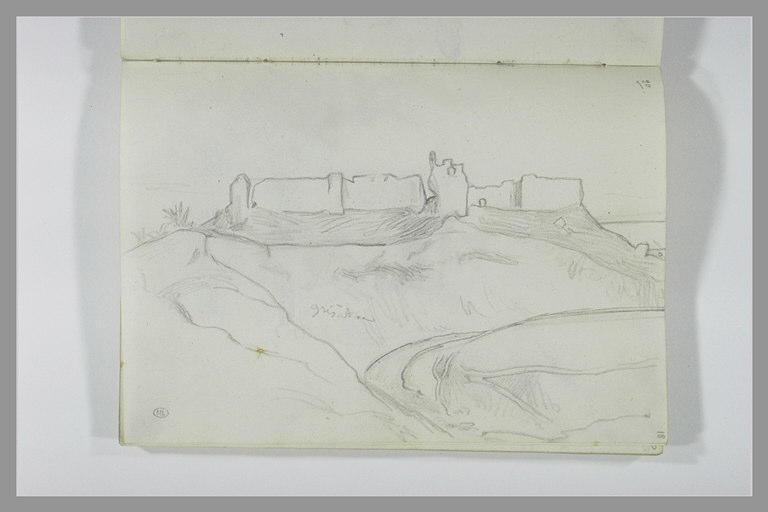 DEHODENCQ Alfred : Château en ruines dans un paysage